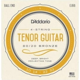 D'Addario EJ66 80/20 Bronze Tenor Guitar 10-32 Gauge Strings
