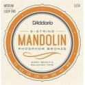 D'Addario EJ74 Mandolin Strings, Phosphor Bronze Wound, Loop End, 11-40 Medium