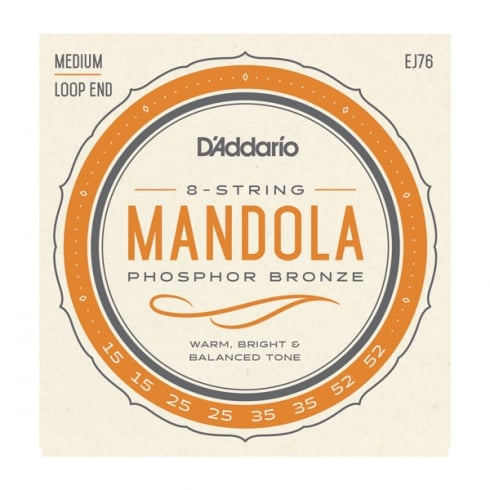 D'Addario EJ76 Mandola Strings, Phosphor Bronze Wound, 15-52