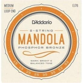 D'Addario EJ76 Mandola Strings, Phosphor Bronze Wound, 15-52