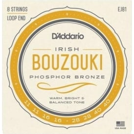 D'Addario EJ81 Phosphor Bronze Bouzouki Irish 11-40 Gauge Strings