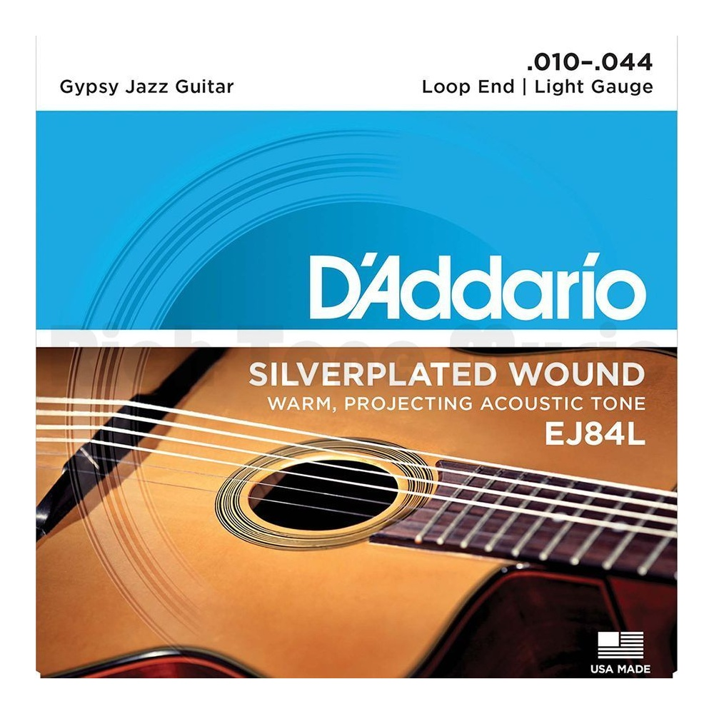 Loop End 10-44 Light D/'Addario EJ84L Gypsy Jazz Acoustic Guitar Strings