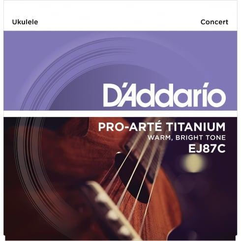 D'Addario EJ87C T2 Titanium Concert Ukulele Strings