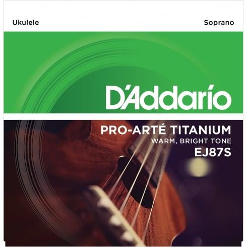 D'Addario EJ87S T2 Titanium Soprano Ukulele Strings 28-29 Gauge