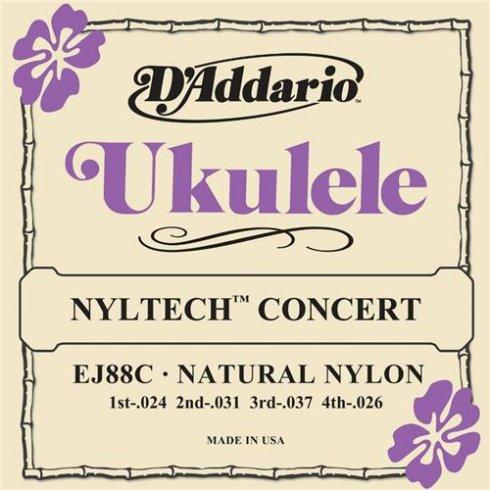 D'Addario EJ88C Nyltech Concert Ukulele Strings