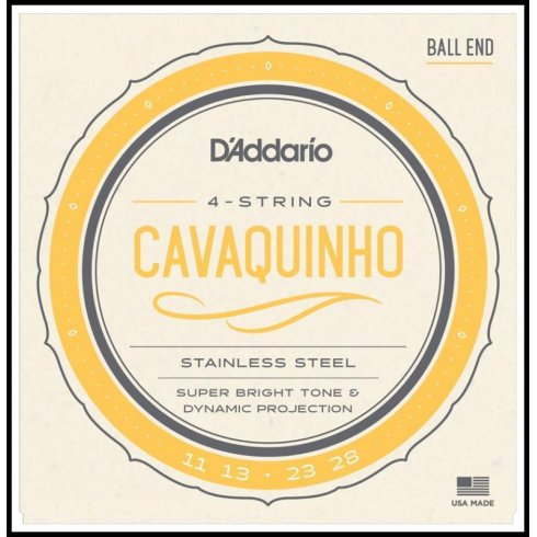D'Addario EJ93 Stainless Steel Cavaquinho Medium Gauge Strings