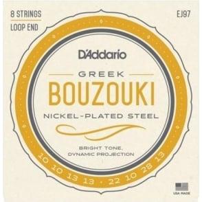 D'Addario EJ97 Nickelplated Steel Wound Greek Bouzouki 10-28 Gauge Strings