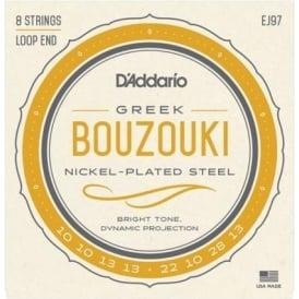 D'Addario EJ97 Nickelplated Steel Wound Greek Bouzouki 10-28 Gauge Strings