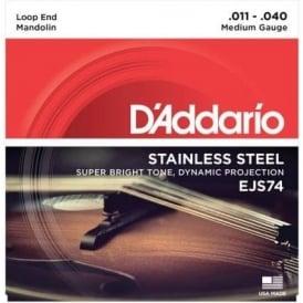 D'Addario EJS74 Stainless Steel Mandolin 11-40 Medium Strings