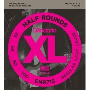 D'Addario ENR71S 4-String Half Round 45-100 Short Scale Bass Guitar Strings