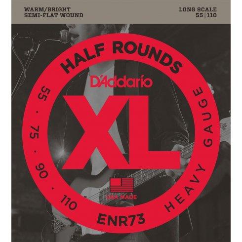 D'Addario ENR73 4-String Half Round 55-110 Long Scale Bass Guitar Strings