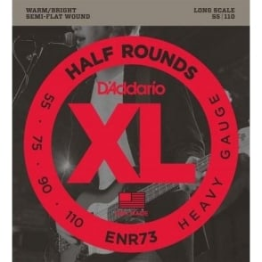 D'Addario ENR73 4-String Half Round 55-110 Long Scale Bass Guitar Strings