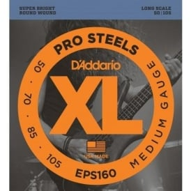 D'Addario EPS160 4-String ProSteel 50-105 Long Scale Bass Strings