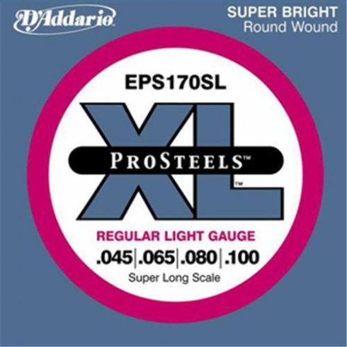 D'Addario EPS170SL ProSteel 45-100 Super Long Scale