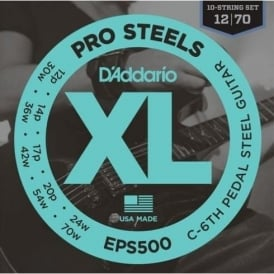 D'Addario EPS500 XL ProSteels C6th Pedal Steel