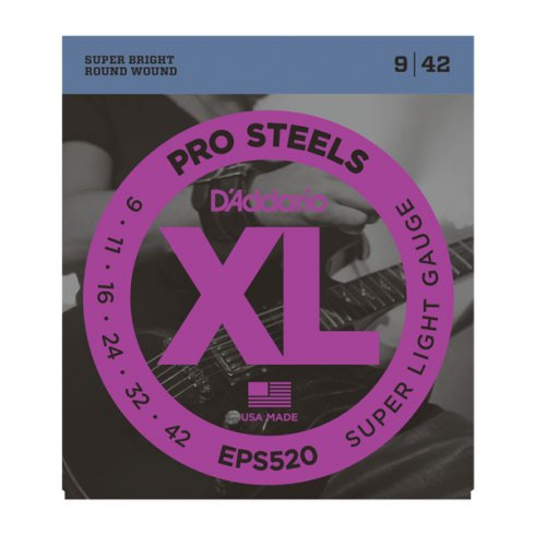 D'Addario EPS520 XL ProSteels Electric Guitars Strings 09-42 Gauge