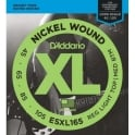D'Addario ESXL165 XL Bass Nickel Wound, Custom Light, 45-105, Double Ball End, Long Scale