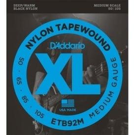 D'Addario ETB92M Tapewound Bass Guitar Strings Medium 50-105 Medium Scale