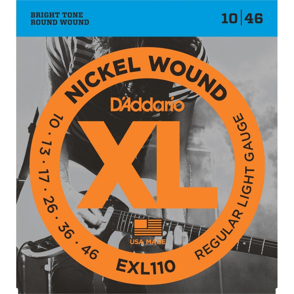 d 39 addario exl110 nickel electric guitar strings 10 46 regular