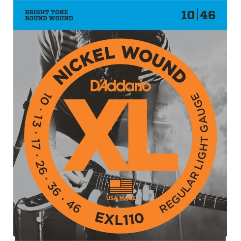 D'Addario EXL110 Nickel Wound Electric Guitar Strings 10-46 Regular