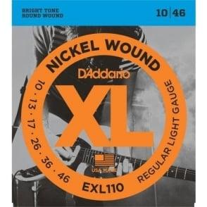 D'Addario EXL110 Nickel Wound Electric Guitar Strings 10-46 Regular