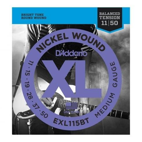 D'Addario EXL115BT Balanced Tension Nickel Guitar Strings 11-49 Jazz Rock