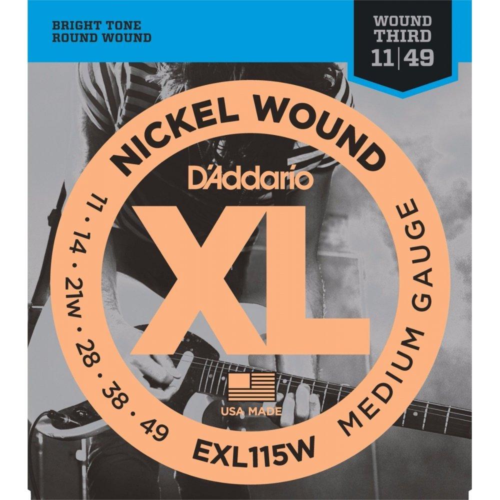 d 39 addario exl115w nickel wound electric 11 49 jazz rock guitar strings. Black Bedroom Furniture Sets. Home Design Ideas