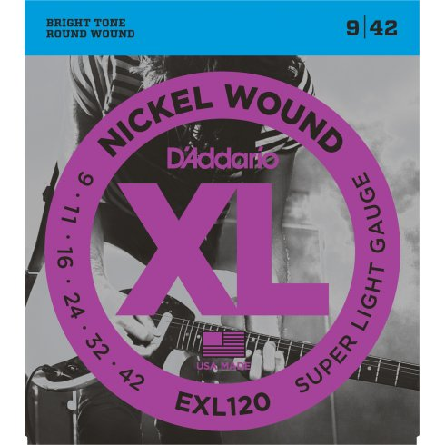 D'Addario EXL120 Nickel Guitar Strings 9-42 Super Light