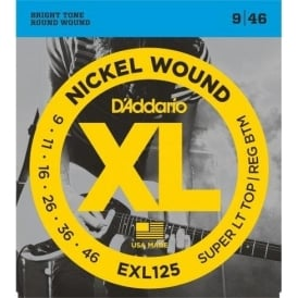 D'Addario EXL125 Nickel Guitar Strings 9-46 Custom Light