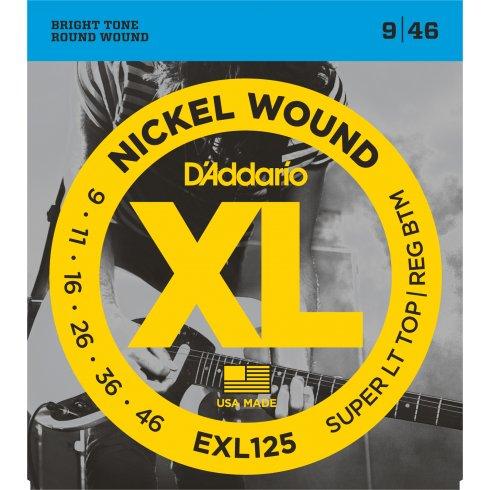D'Addario EXL125 Nickel Wound 09-46 Custom Light Electric Guitar Strings