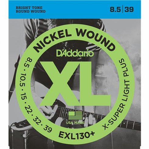D'Addario EXL130+ Nickel Wound Electric 8.5-39 X-Super Light Plus