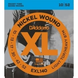 D'Addario EXL140 Nickel Guitar Strings 10-52 Light Top Heavy Bottom