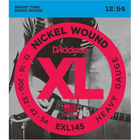 D'Addario EXL145 Nickel Wound Electric 12-54 Heavy Electric Guitar Strings