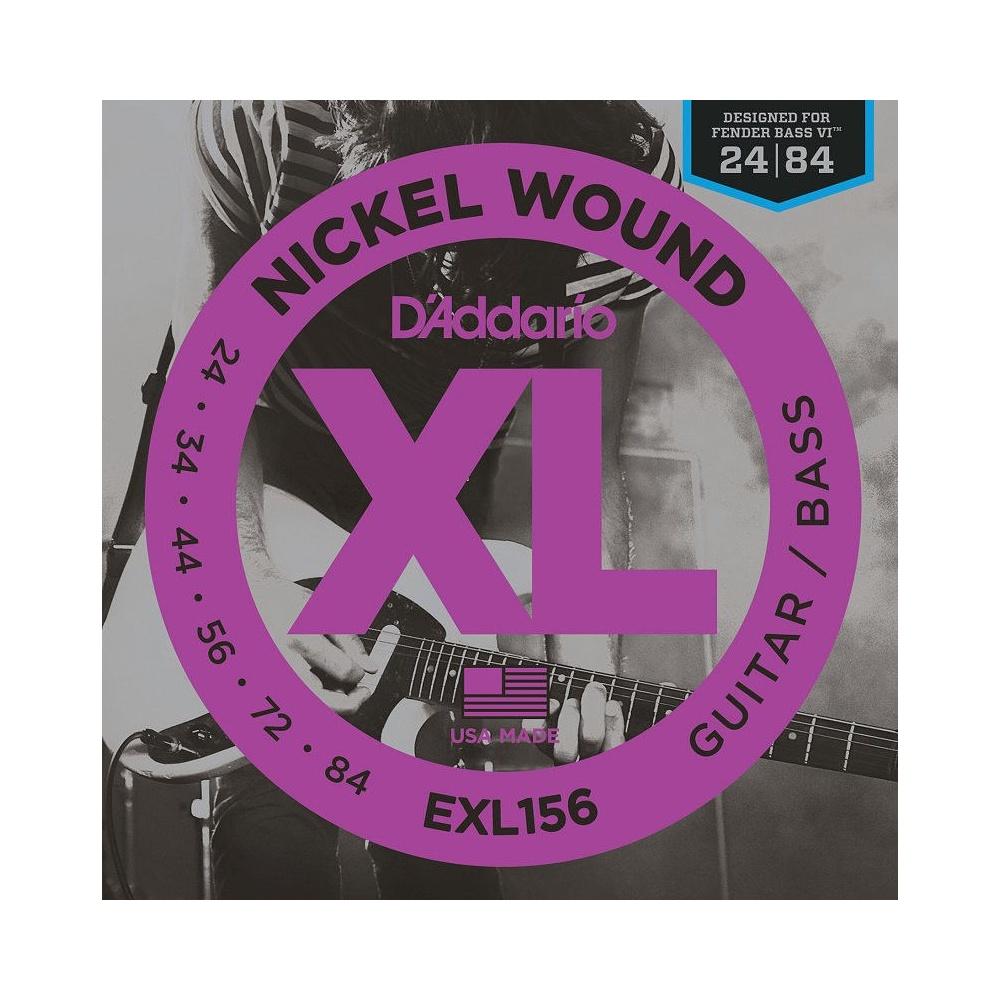 d 39 addario exl156 nickel wound guitar strings designed fender bass vi. Black Bedroom Furniture Sets. Home Design Ideas