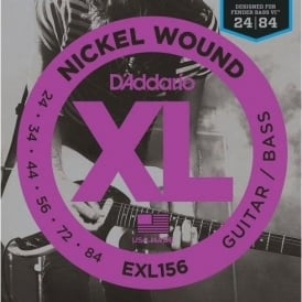 D'Addario EXL156 Nickel Wound Guitar Strings Designed for Fender Bass VI