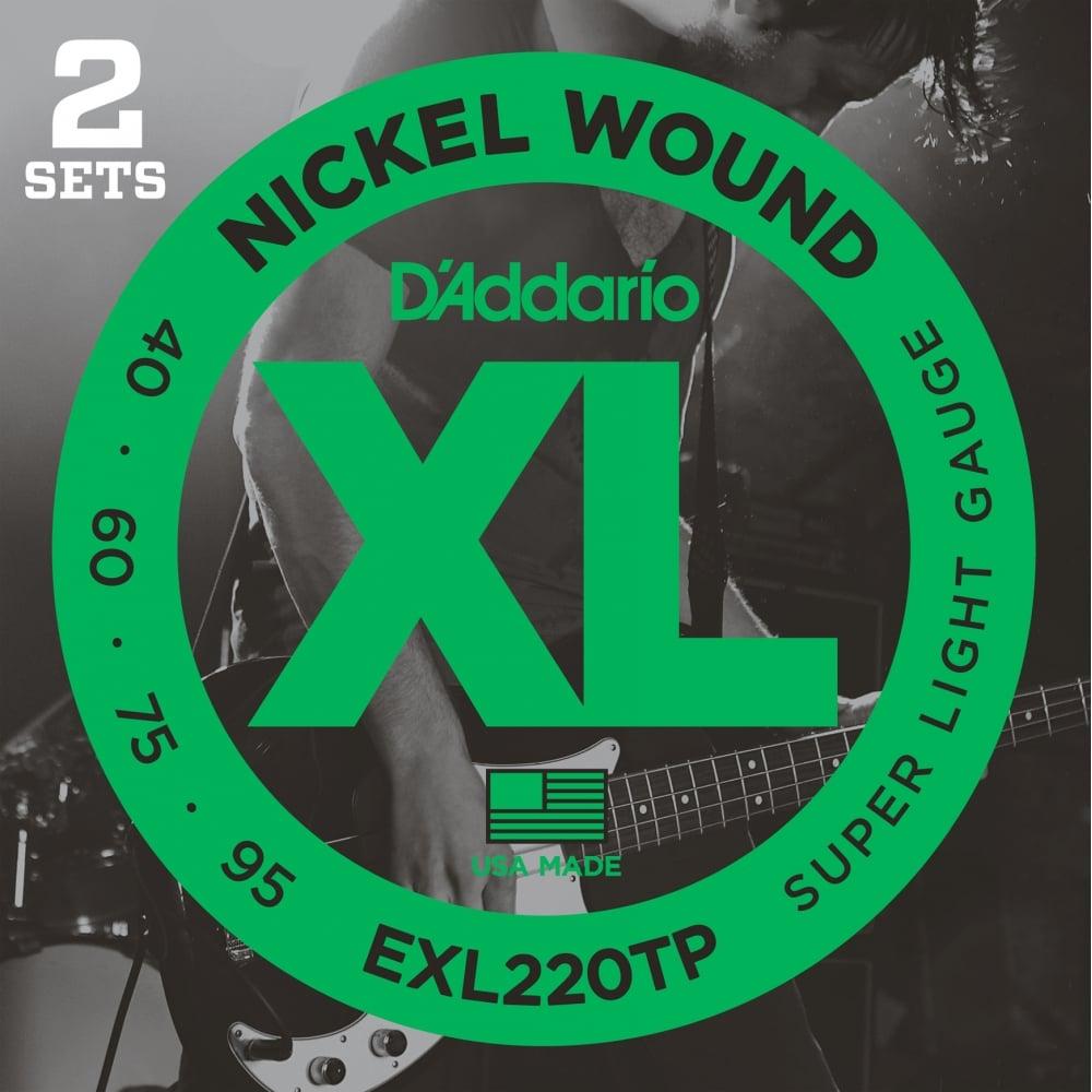 D/'Addario XLB075 Nickel Wound Bass Guitar Single String Long Scale .075