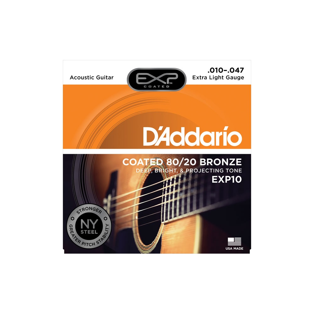 d 39 addario extended play exp10 80 20 bronze acoustic guitar strings. Black Bedroom Furniture Sets. Home Design Ideas