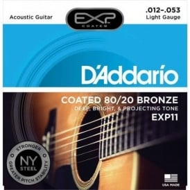 D'Addario Extended Play EXP11 80/20 Bronze Acoustic Guitar Strings 12-53 Light