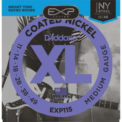 D'Addario Extended Play EXP115 Nickel Guitar Strings 11-49 Medium
