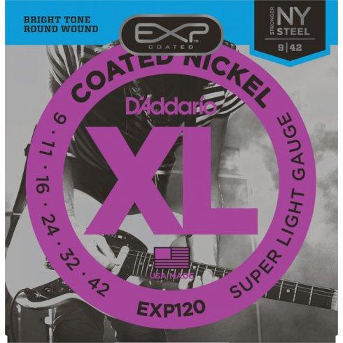 D'Addario Extended Play EXP120 Nickel Guitar Strings 9-42 Super Light