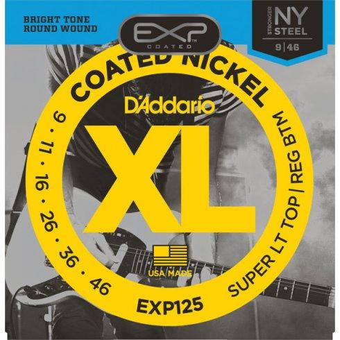 D'Addario Extended Play EXP125 Nickel Guitar Strings 9-46 Custom Light