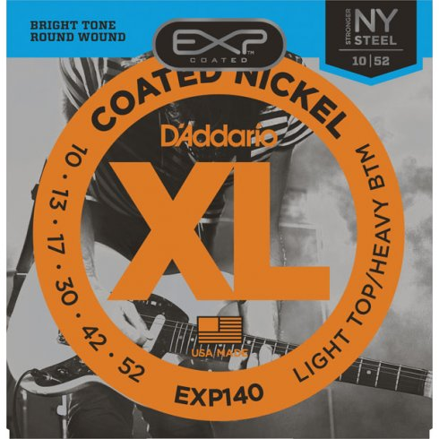 D'Addario Extended Play EXP140 Nickel Guitar Strings 10-52 Light Top Heavy Bottom