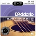 D'Addario Extended Play EXP26 Phosphor Bronze Acoustic Guitar Strings 11-52 Custom Light