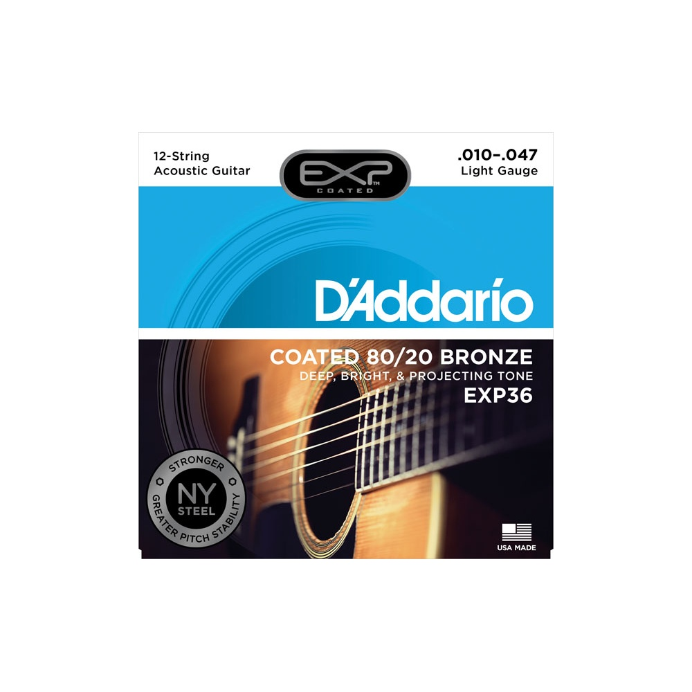 d 39 addario exp36 80 20 bronze acoustic strings 10 47 12 string. Black Bedroom Furniture Sets. Home Design Ideas