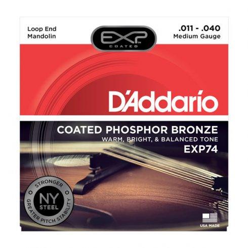 D'Addario Extended Play EXP74 Phosphor Bronze Mandolin Strings 11-40 Medium