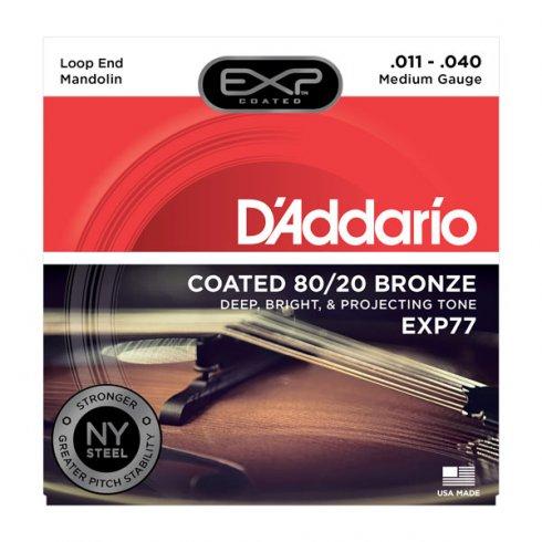 D'Addario Extended Play EXP77 80/20 Bronze Mandolin Strings 11-40 Medium