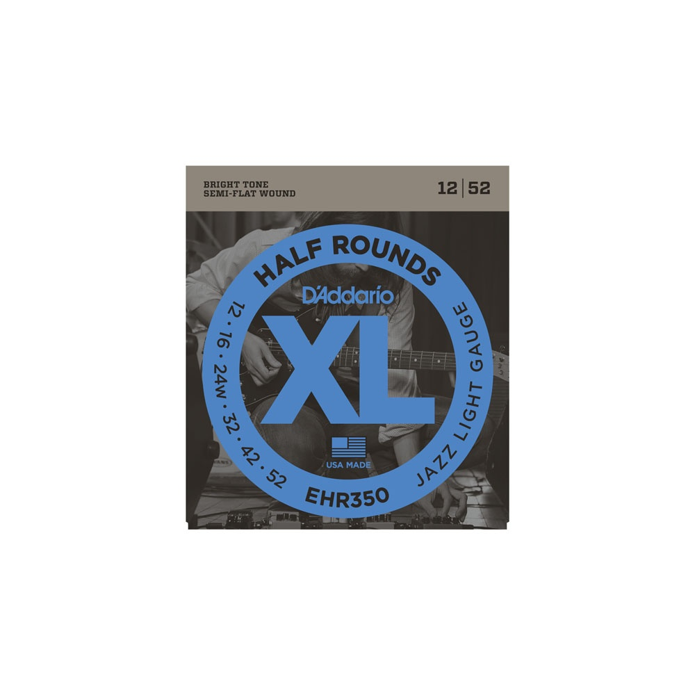 d 39 addario ehr350 half rounds stainless steel electric strings 12 52. Black Bedroom Furniture Sets. Home Design Ideas