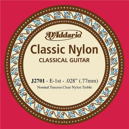 D'Addario J2701 Classic Clear Nylon Normal Tension E-1st Single String