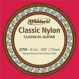 D'Addario J2701 Classic Clear Nylon Normal Tension E-1st Single String