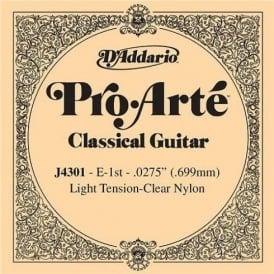 D'Addario J4301 Pro Arte Clear Nylon Light Tension Single Guitar String 1st E-String